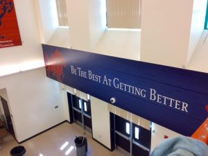 School Signs custom vinyl wall mural indoor 300x225
